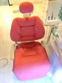 タカラ製 歯科ユニット(ロールアップ部有り) ふわもこ張替(L-1355)