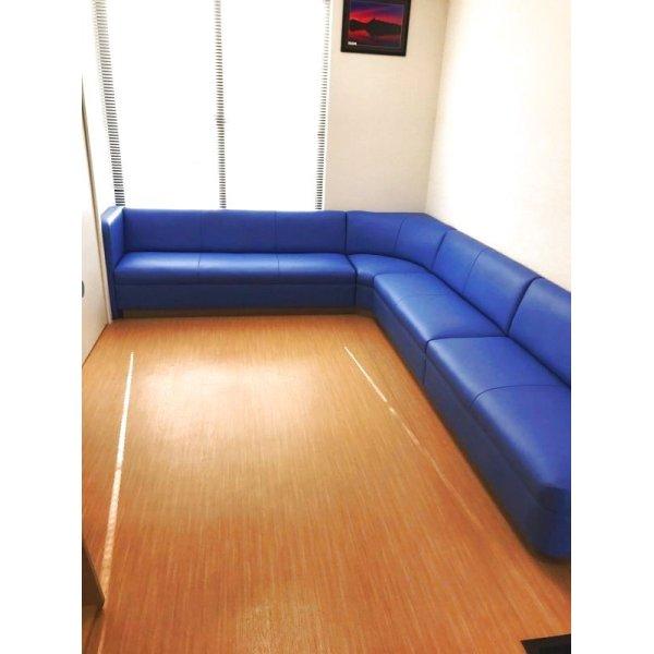 画像1: 待合椅子 張替 (L-1497)