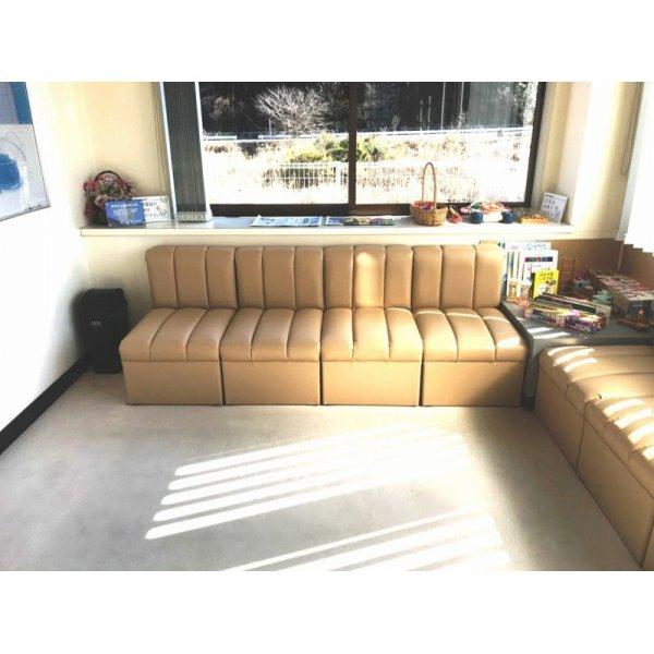 画像2: 待合椅子 張替(L-1431)