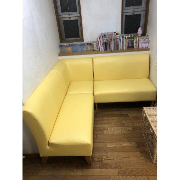 画像1: 待合椅子 張替(L-2832)